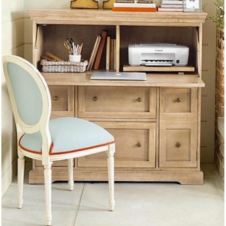 Large Closed Cabinet Secretary Desk - image-2