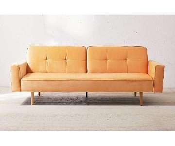 Urban Outfitters Velvet Sleeper Sofa