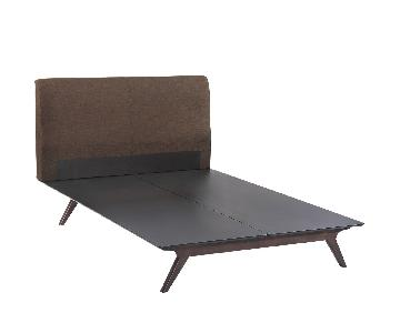 Modway TracyWood Queen Bed Frame in Cappuccino Brown