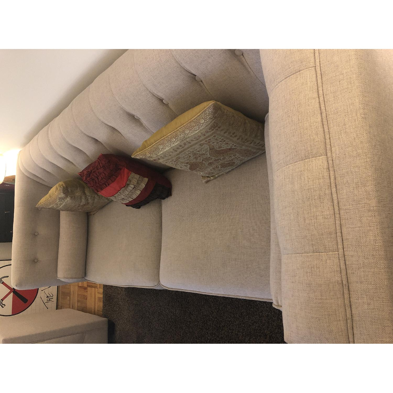 Beige Tufted Sofa + Armchair-2