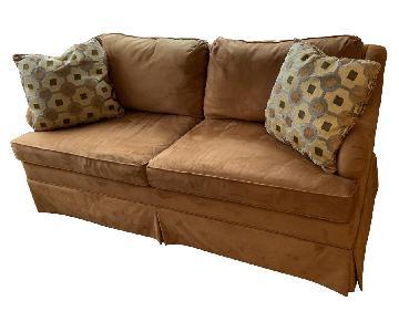 Hickory Rust Ultrasuede Sofa