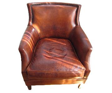 Bendic International Distressed Leather Club Chair