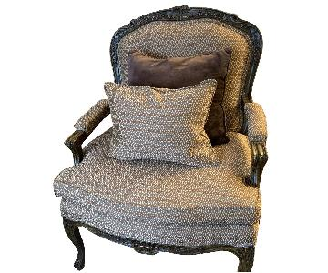 Hickory Wood Frame Upholstered Chairs
