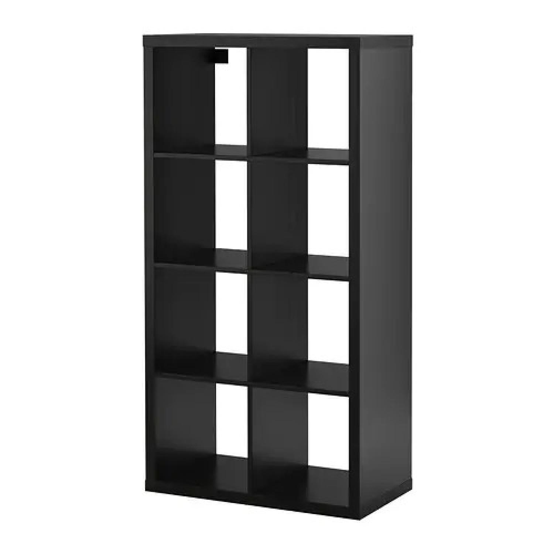 Ikea Kallax Black Bookcase