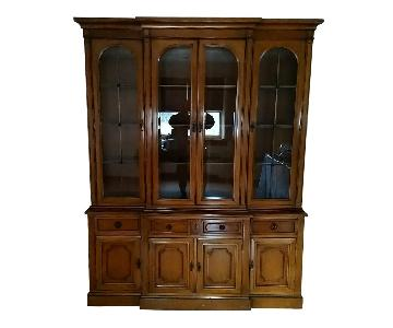 Antique Wood China Cabinet