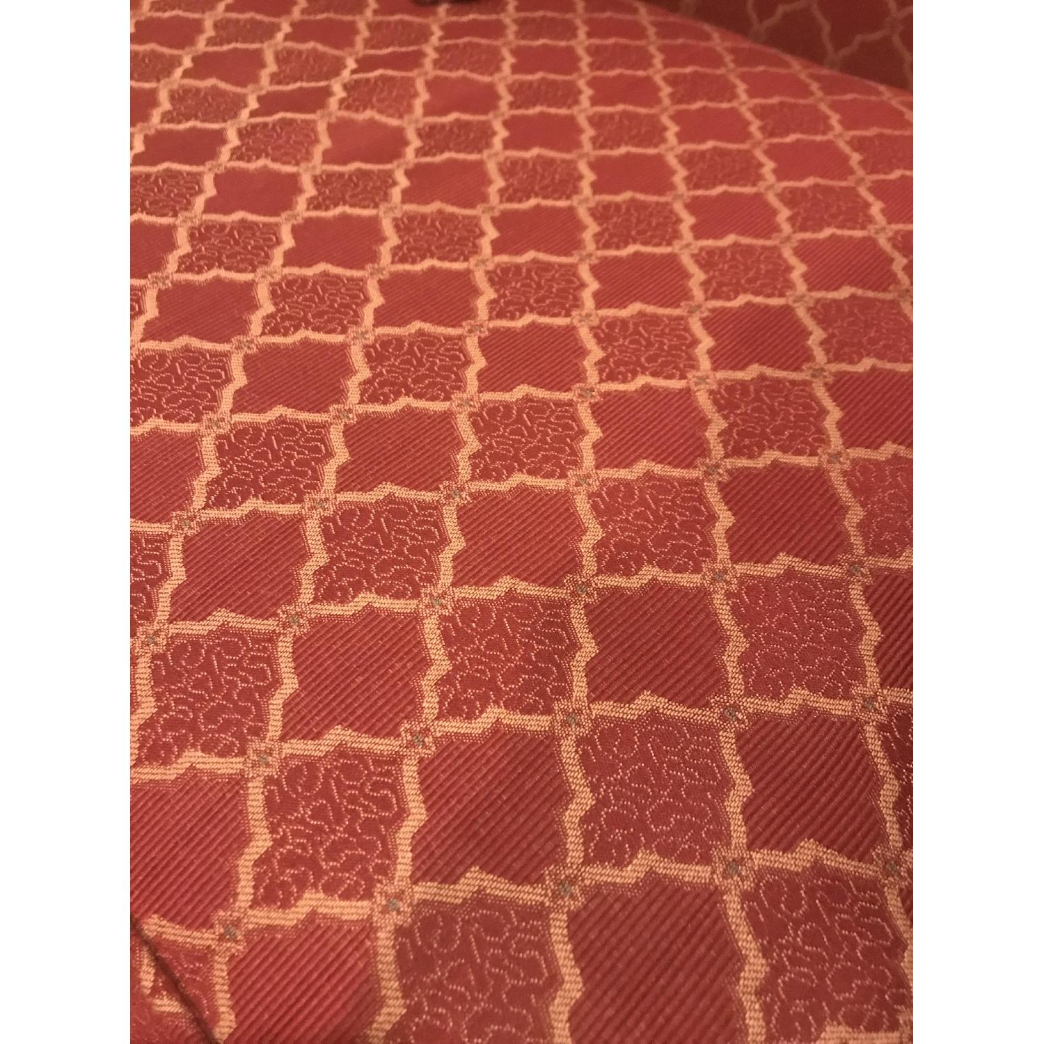 Vintage Style Patterned Red Sofa-1