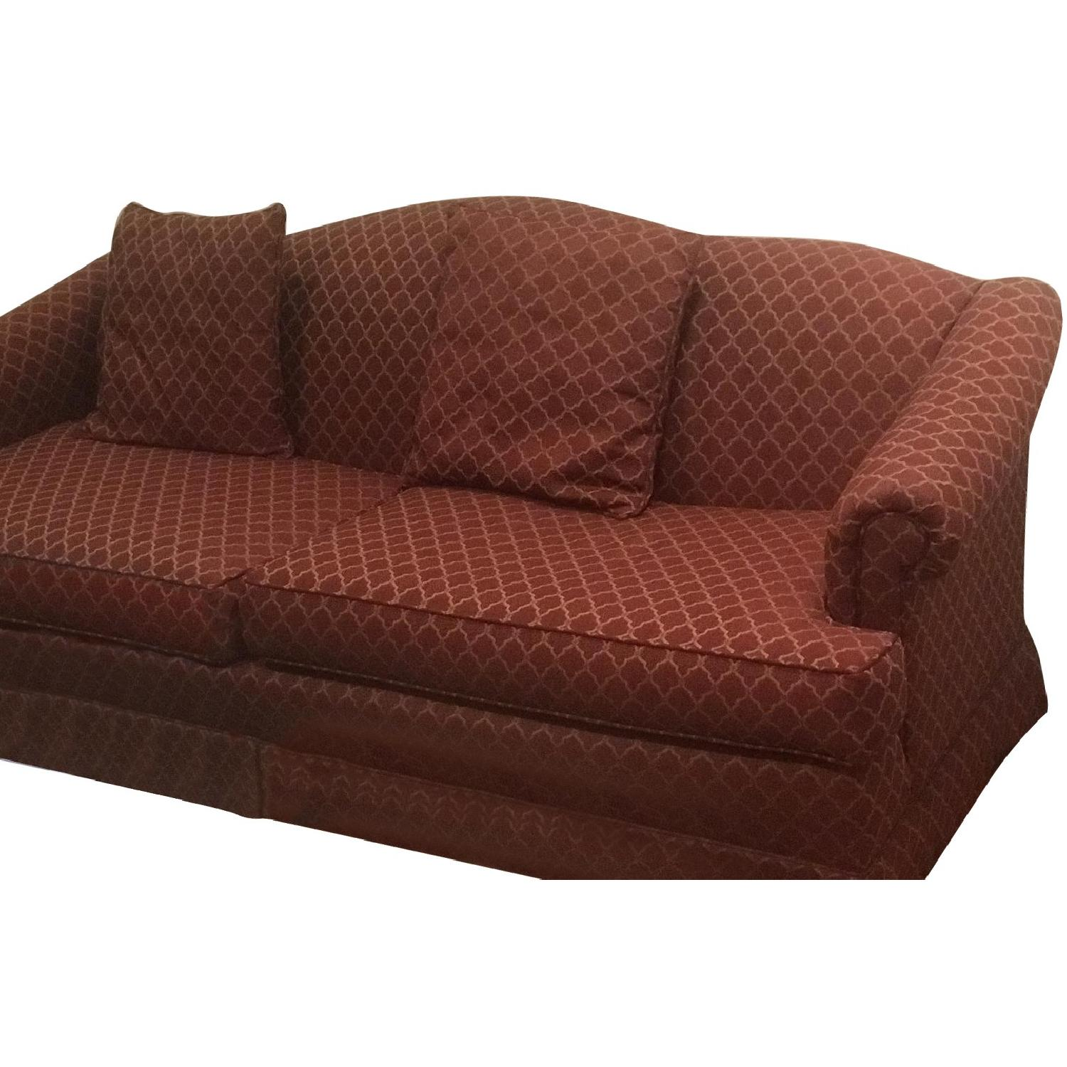 Vintage Style Patterned Red Sofa