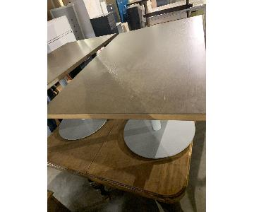 Wood Dining Table w/ Metal Base