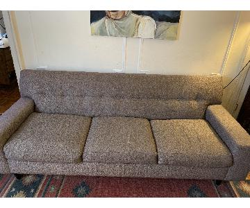 Max Home Gray Mid-Century Sofa