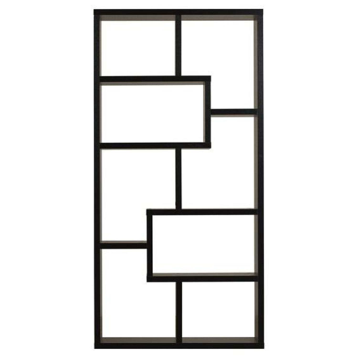 Joss & Main Chrysanthos Black Geometric Bookcase