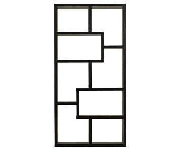 Joss & Main Chrysanthos Black Geometric Bookcase