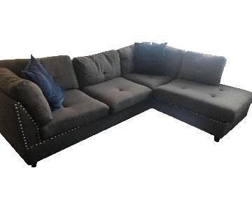 Alcott Hill Charlemont Reversible Sectional Sofa & Ottoman