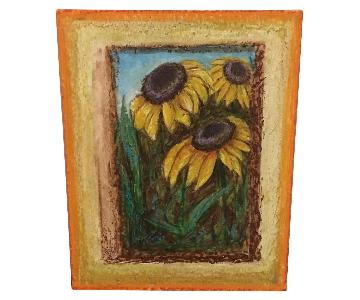 Framed Sunflowers Art