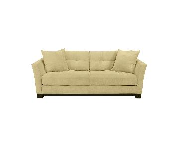 Macys Basil Microsuede Queen Sleeper Sofa