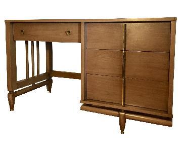 Kent Coffey The Tableau Mid Century Modern Walnut Desk