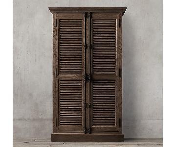 Restoration Hardware Shutter Double Door Cabinet