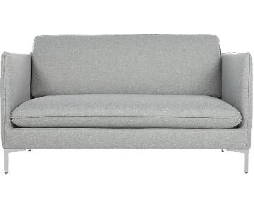 CB2 Flatiron Haze Apartment Sofa