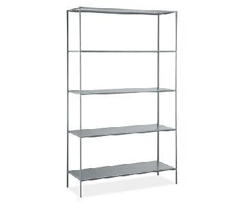 Room & Board Slim Modern Bookcase in Steel