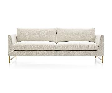 Crate & Barrel Genesis Sofa + Sofa Chair
