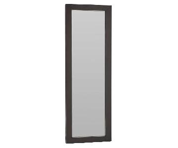 West Elm Wood Leaning Floor Mirror