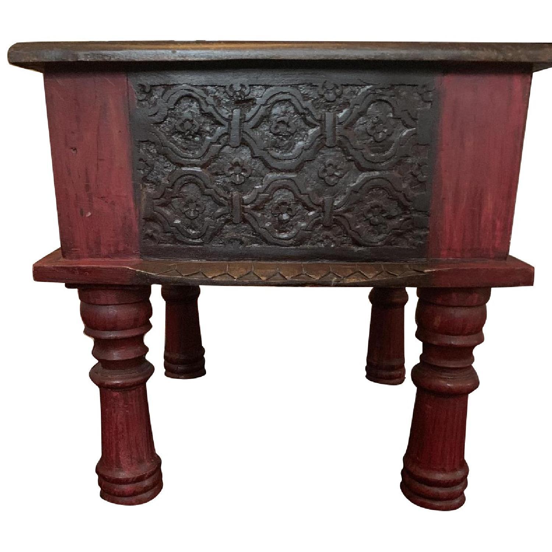 Indonesian Wood Stool/Side Table