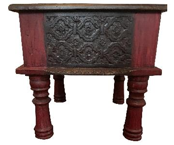 Indonesian Wood Stool/Side Table