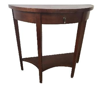 Half-Circle American Empire Side Table