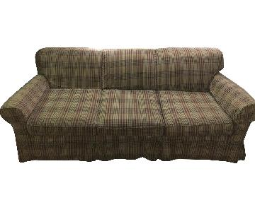 Plaid Slipcovered Sofa