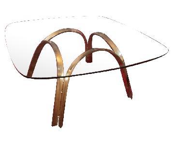 Vintage Glass Coffee Table