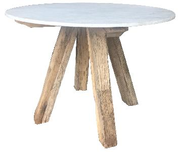 Anthropologie Rustic Marble Round Dining Table