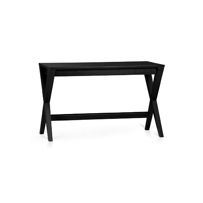Crate & Barrel Ebony X-Leg Desk