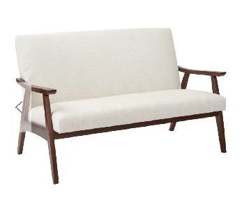 Zipcode Design Linen Mid Century Sofa