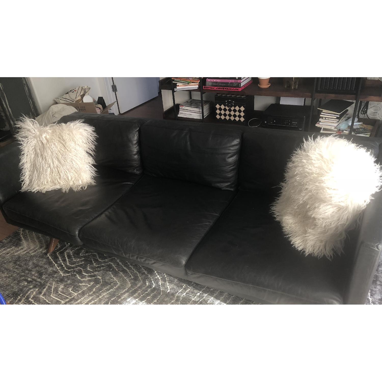 West Elm Brooklyn Sofa in Black Licorice Leather-2