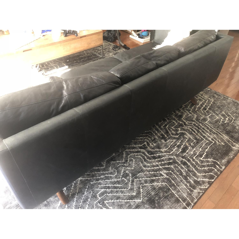 West Elm Brooklyn Sofa in Black Licorice Leather-4