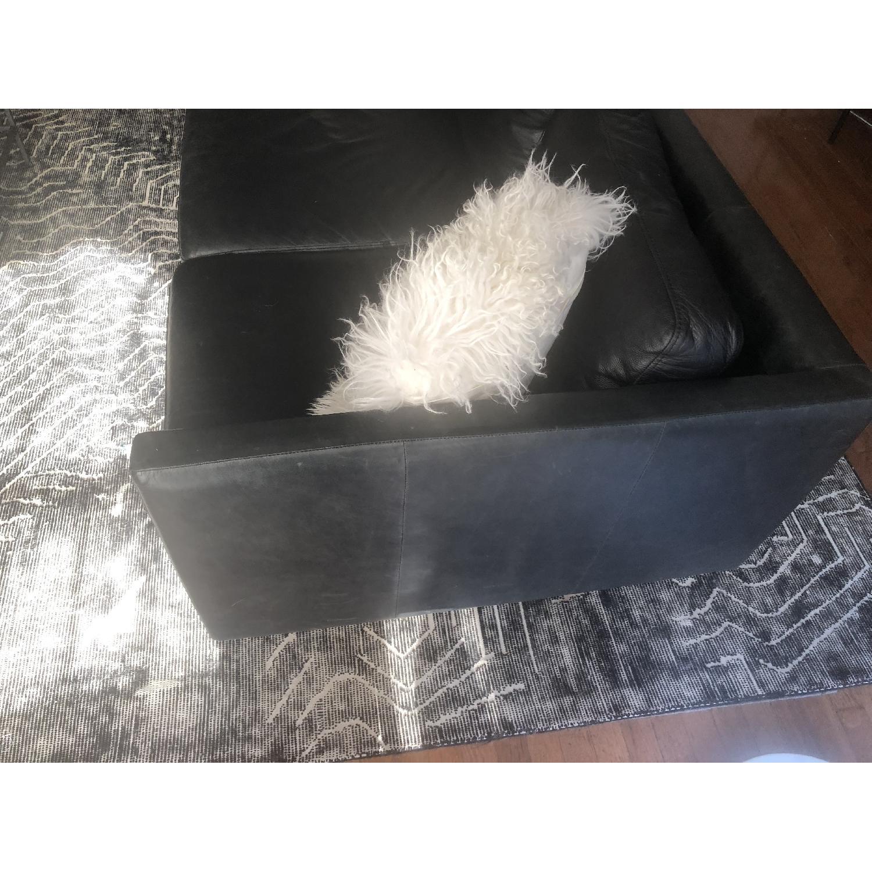 West Elm Brooklyn Sofa in Black Licorice Leather-5