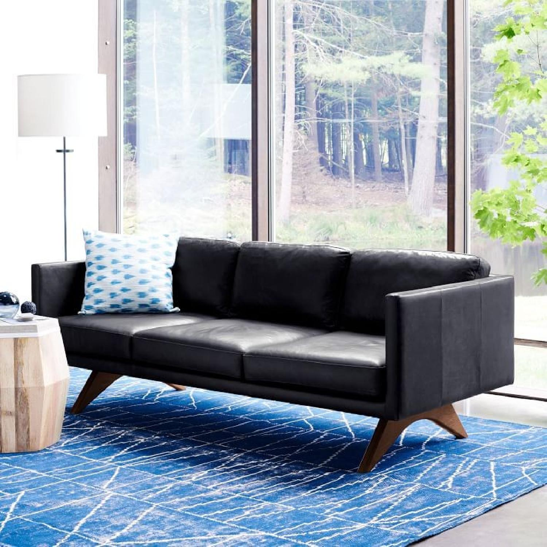 West Elm Brooklyn Sofa in Black Licorice Leather-8