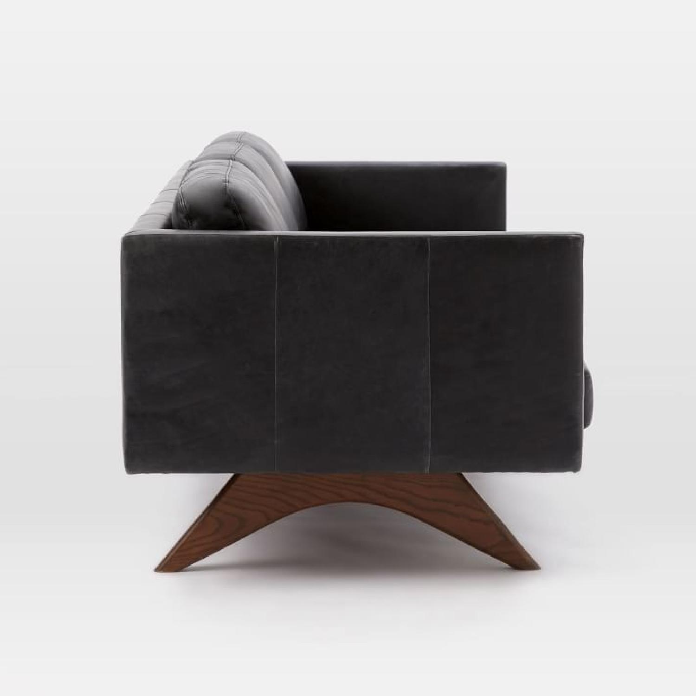 West Elm Brooklyn Sofa in Black Licorice Leather-10
