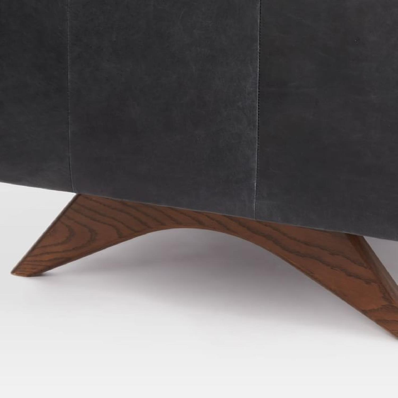 West Elm Brooklyn Sofa in Black Licorice Leather-11