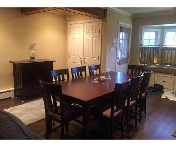 Crate & Barrel Dining Room Table w/ Chairs