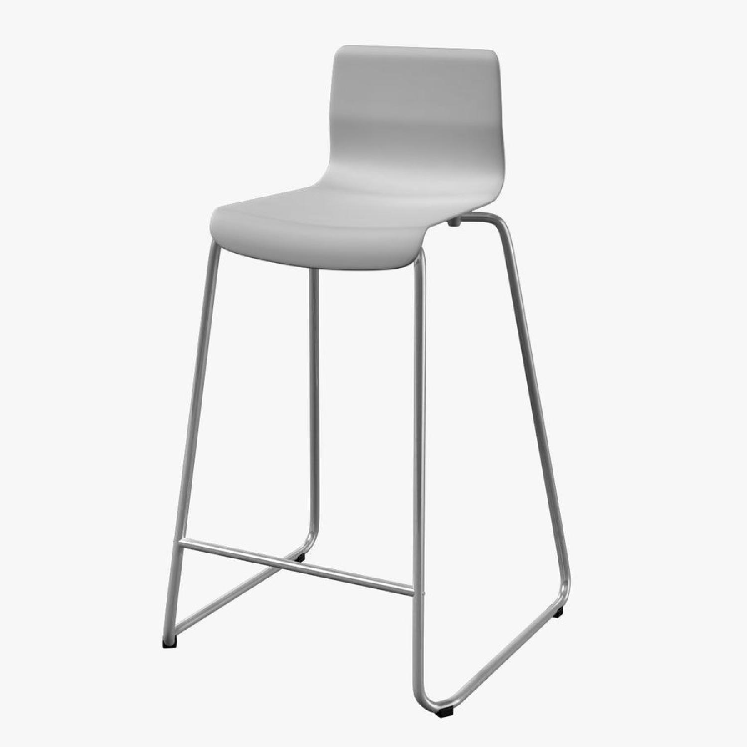 Ikea Glenn White Bar Stools