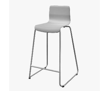 Ikea Glenn White Bar Stools