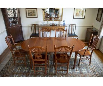 Tom Seely Solid Cherry Dining Table w/ 6 Chairs