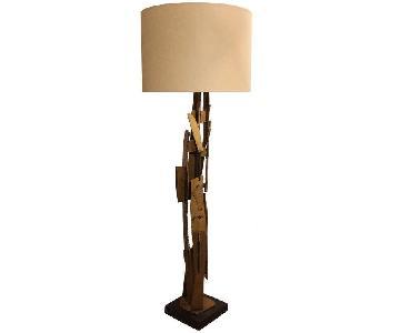 Vintage 1960s Brutalist Mid-Century Modern Floor Lamp