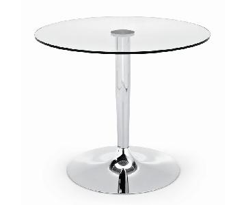 Calligaris Planet Clear Glass/Chrome Dining Table