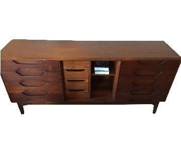 Detroit Furniture Mid-Century Modern Solid Walnut Dresser