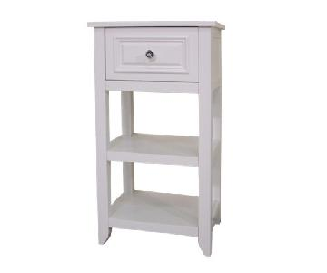 Elegant Home Fashions White Nightstand w/ Storage
