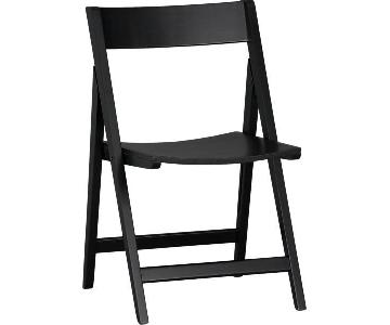 Crate & Barrel Spare Black Folding Chairs