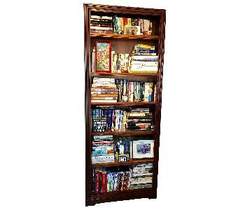 Pottery Barn Mahogany Bookcase
