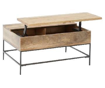 West Elm Industrial Storage Pop-Up Coffee Table