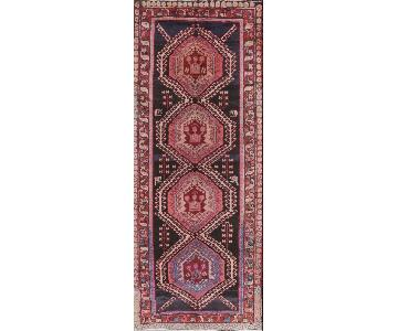 Ardebil Persian Hand-Knotted Wool Runner